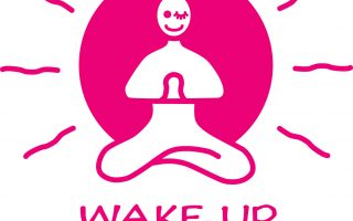 wake up yoga logo